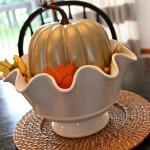 Metallic Pumpkin Centerpiece