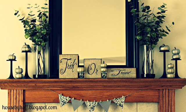 Fall Mantel and My First Link Party!