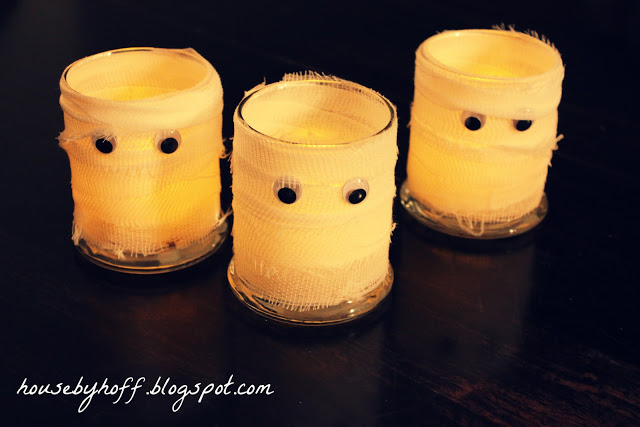 Easy Peasy Mummy Candles