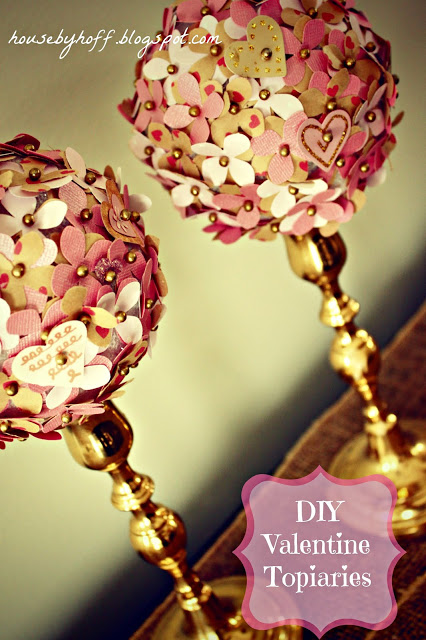 Valentine Week: DIY Valentine Topiaries