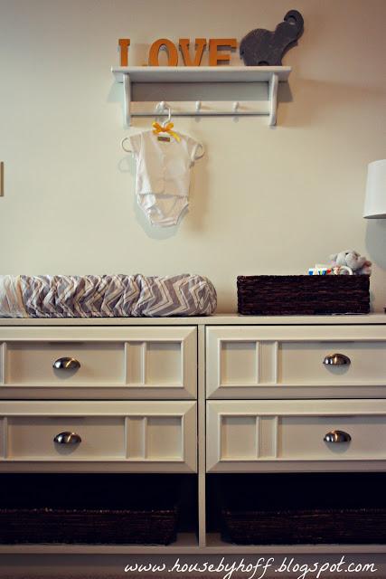 A Gray + Yellow DIY Nursery
