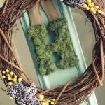 A Springy Moss Monogram Wreath