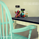 DIY Chalkboard Table + 2 Shabby Chairs