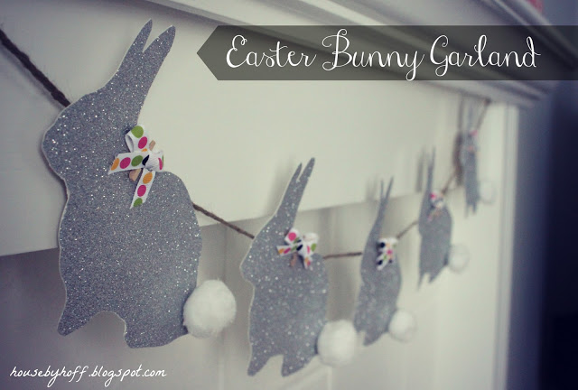 Up close picture of the sparkly bunnies.