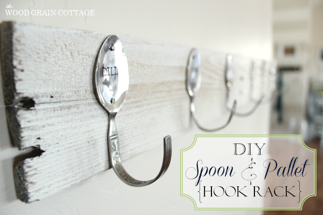 DIY Spoon and Pallet Hook Rack poster.