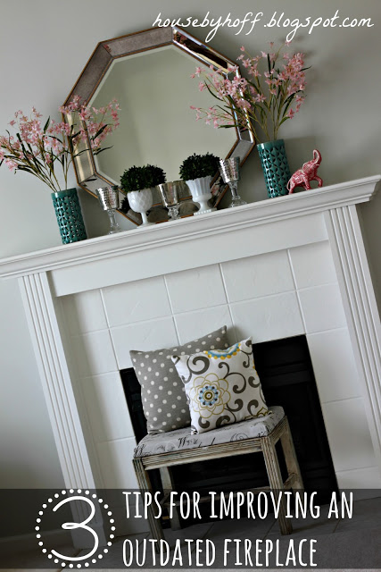 how to improve an outdated fireplace via housebyhoff.com