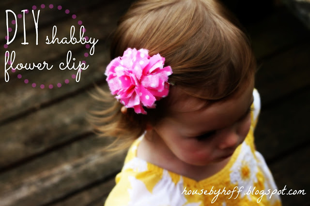 DIY Shabby Flower Clip