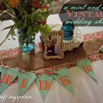 A Mint and Coral Vintage Wedding Shower