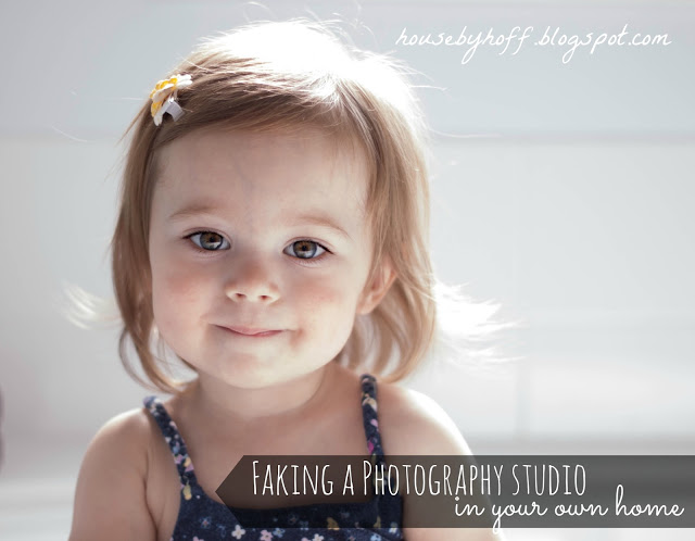 Faking a Photography Studio in Your Home