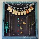 Old Screen Window to Jewelry Organizer