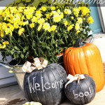 Spray Painted Chalkboard Pumpkins