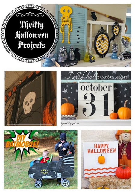 Thrifty Halloween projects poster.