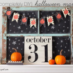 A DIY Halloween Mantel