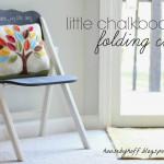 A Little Chalkboard Chair!