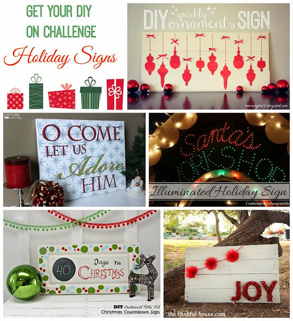 Get your DIY on challenge poster for bloggers.