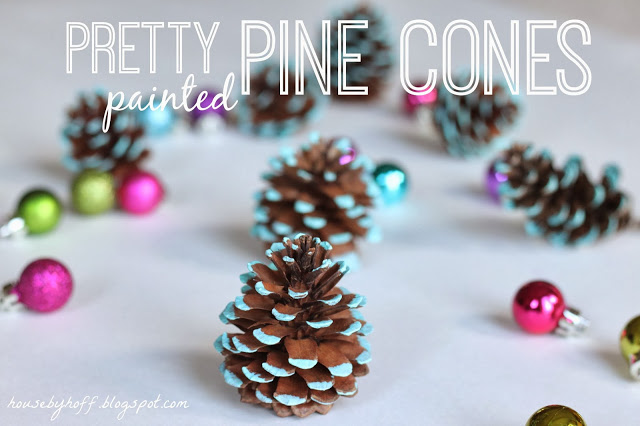 Pretty painted pine cones poster.