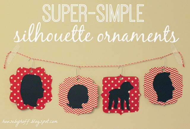 Super Simple Silhouette Ornaments poster.