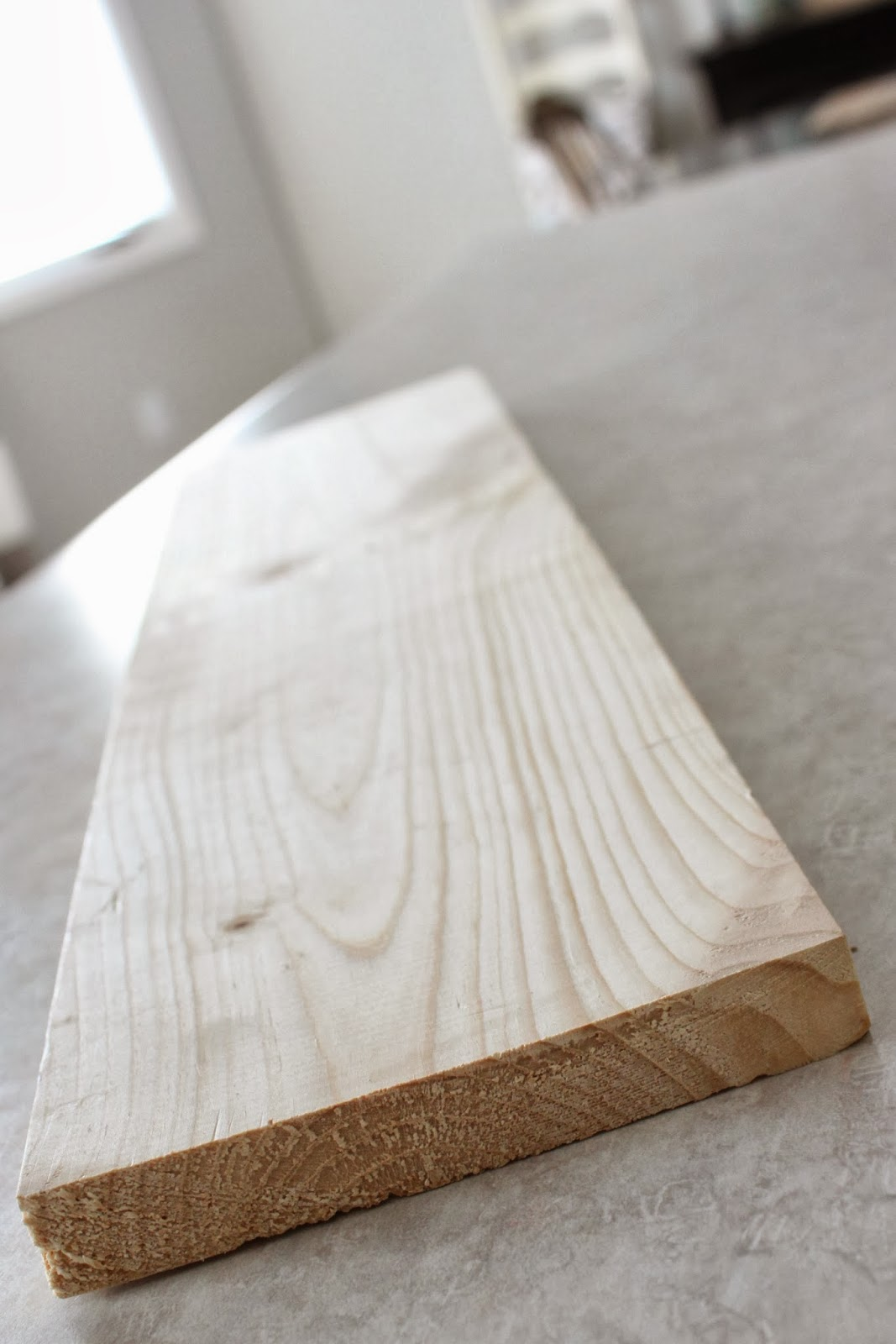 A wooden board on the table.