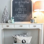 January Decorating:  A Winter Chalkboard + Showcasing Your Collections!
