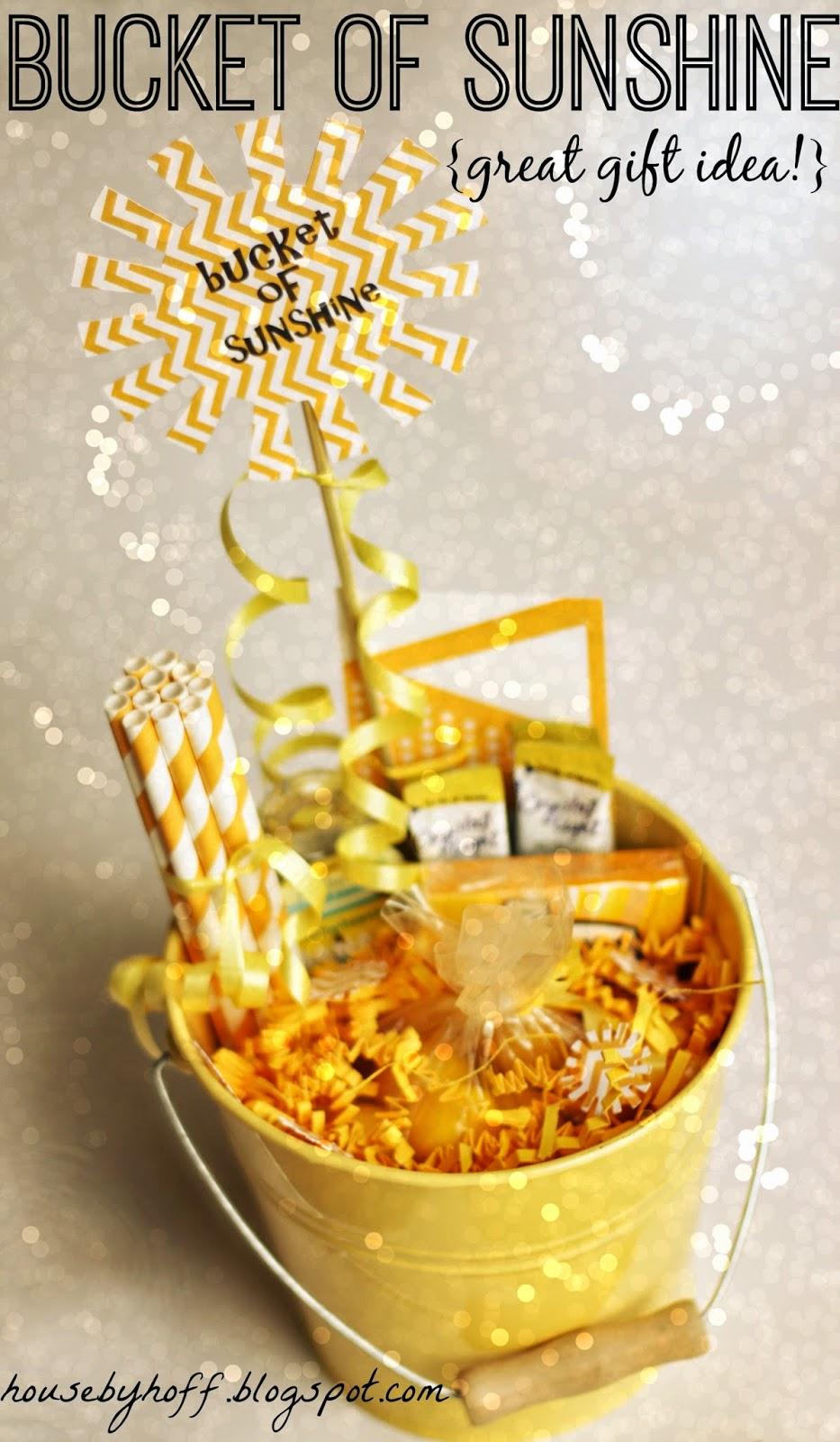 Bucket of Sunshine {Great Gift Idea!}