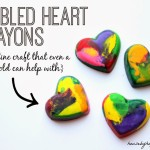 Marbled Heart Crayons {Guest Post for Migonis Home}