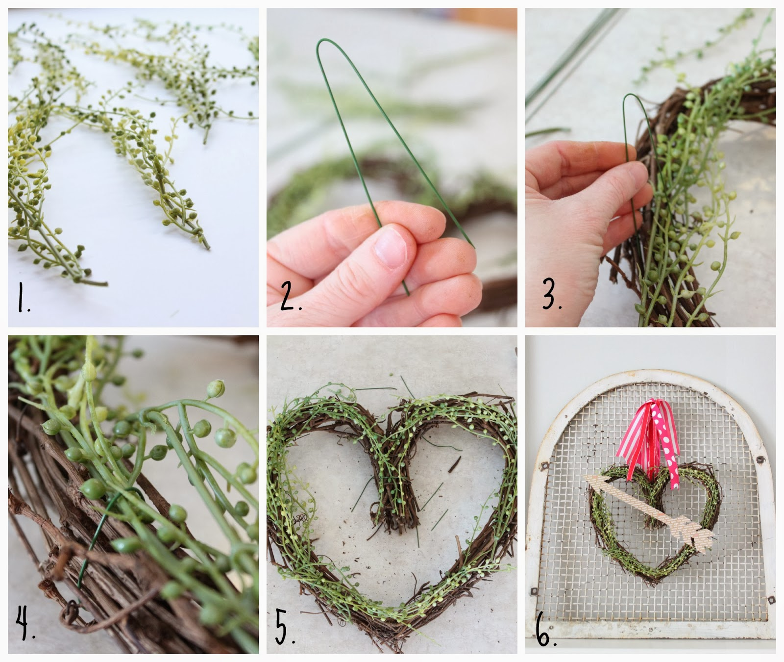 The step by step tutorial on how to put the wreath together.