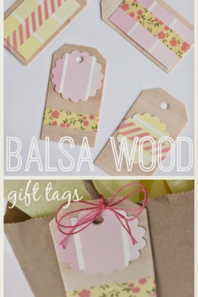 how to make gift tags via housebyhoff.com