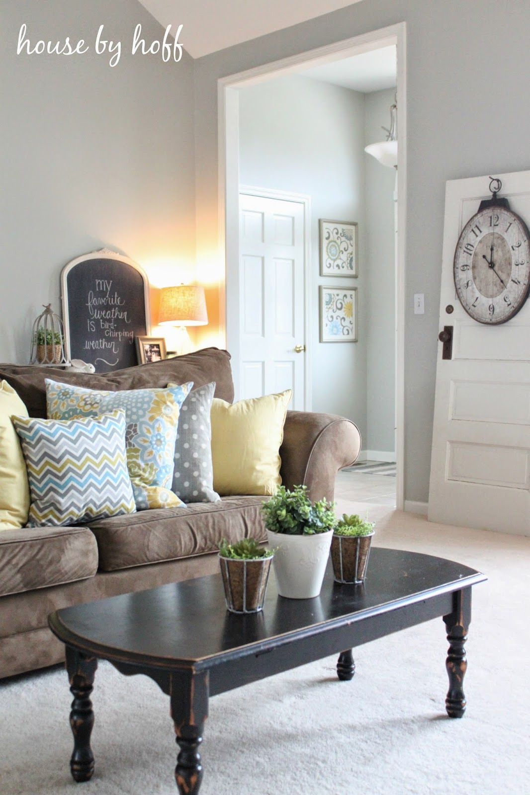 how to decorate with repurposed items via housebyhoff.com