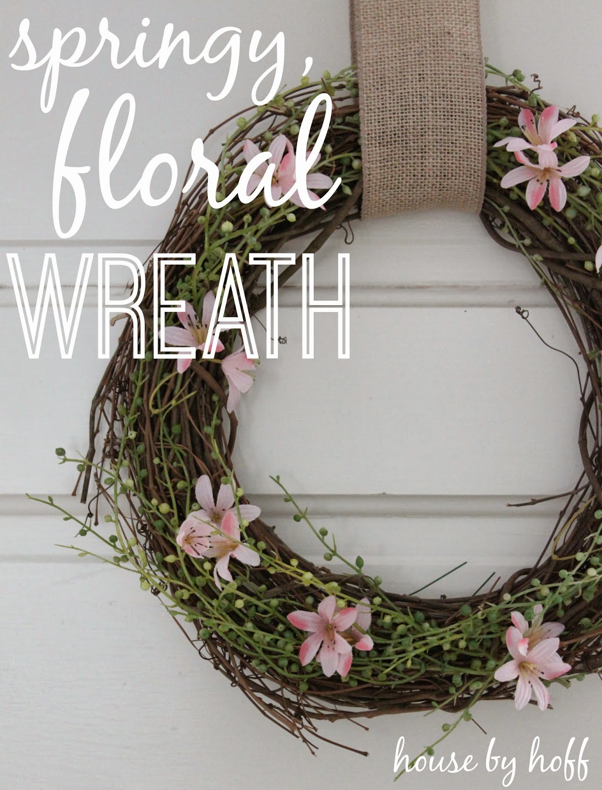 how to make a spring wreath via housebyhoff.com