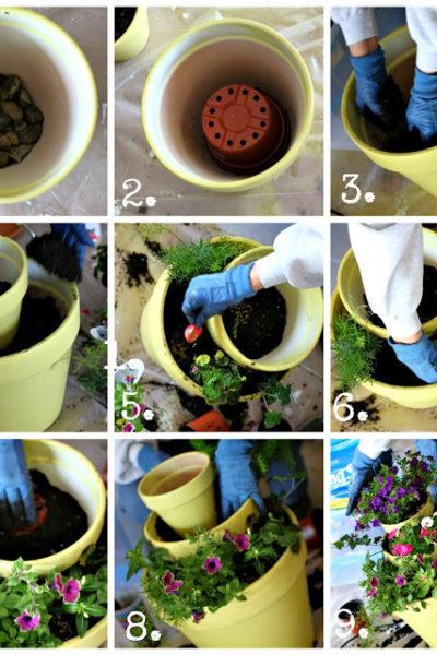 how to make a three tiered planter via housebyhoff.com