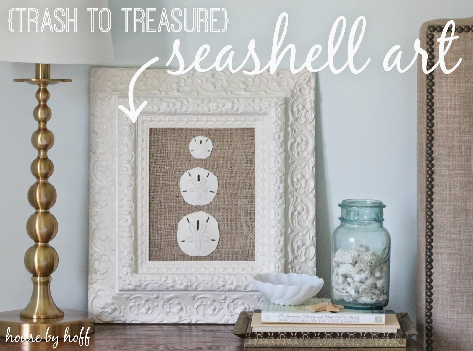how to make DIY seashell art via housebyhoff.com