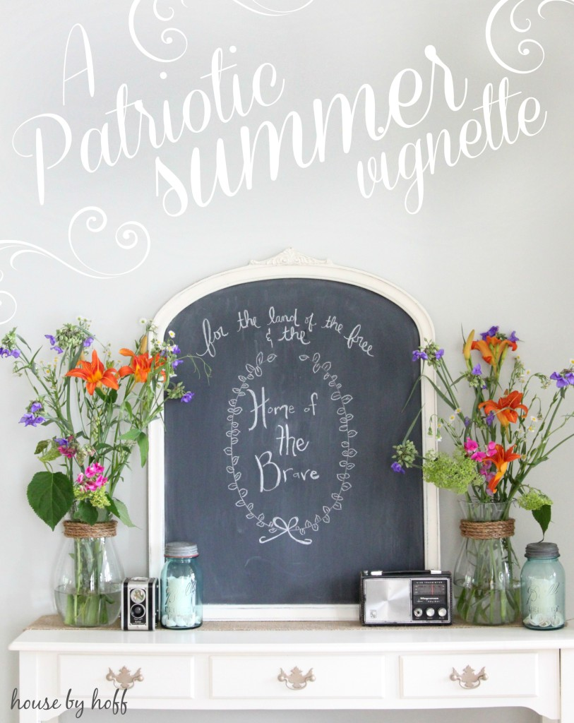 A Patriotic Summer Vignette via housebyhoff.com