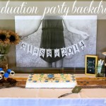 Photography Wednesday:  Graduation Party Backdrop