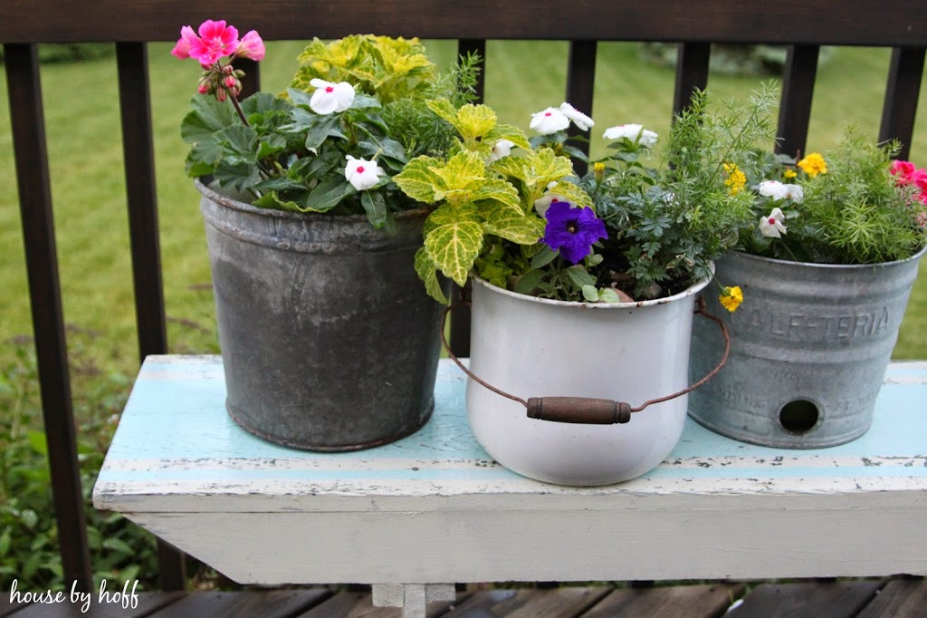 Repurposed Summer Planters
