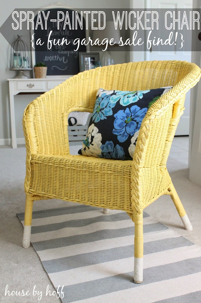 $ Thursday A Spray Painted Wicker Chair! - House by Hoff