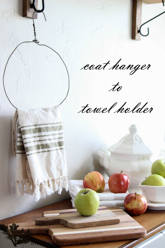 DIY Coat Hanger To Towel Holder