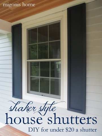 Shaker style house shutters.