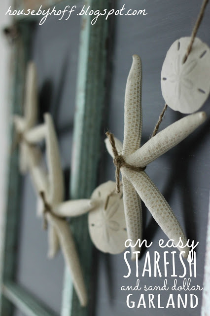 Starfish garland art.