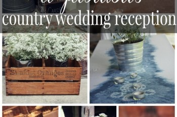 country wedding reception collage