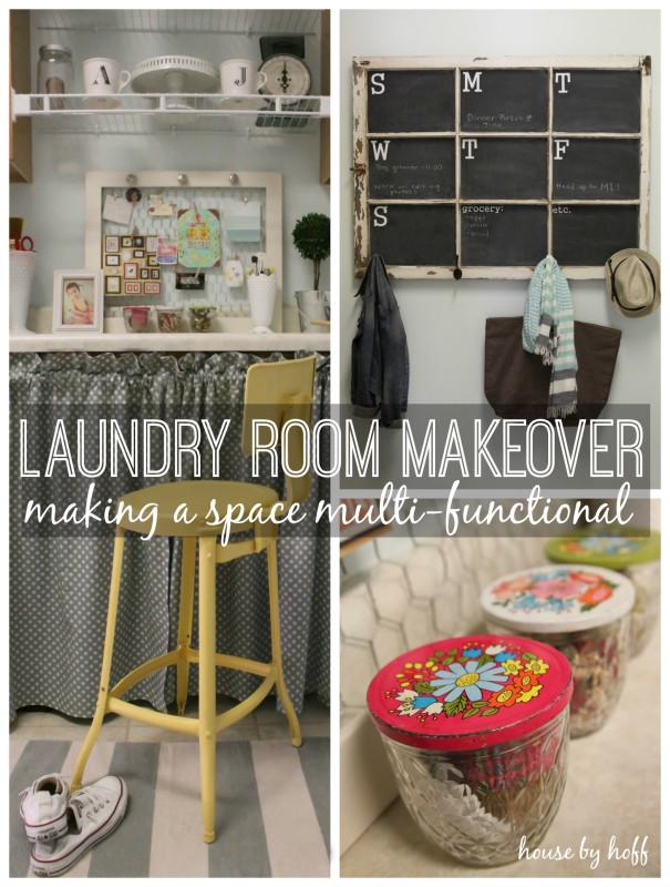 laundry room makeover collage 2