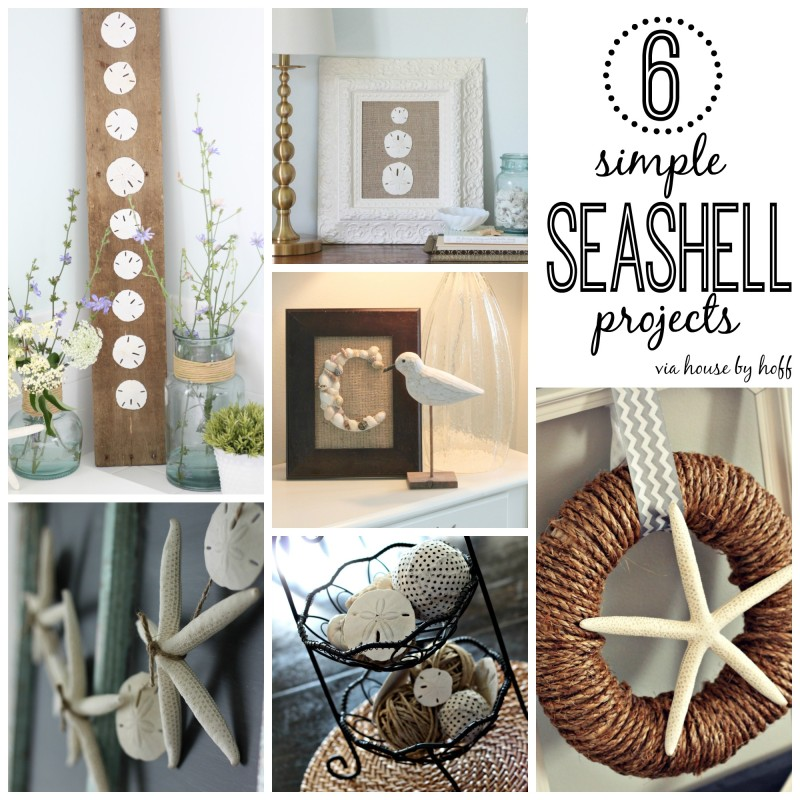 Six Simple Seashell Projects - pictures of seashell projects.
