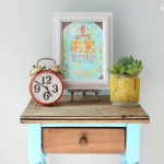 turquoise two toned table-4