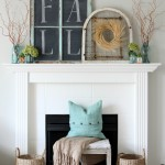 Inexpensive Fall Mantel {It's $30 Thursday}