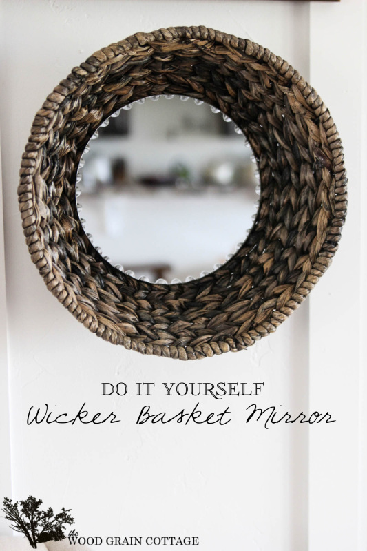 DIY Wicker Basket Mirror by The Wood Grain Cottage-5 copy (2)