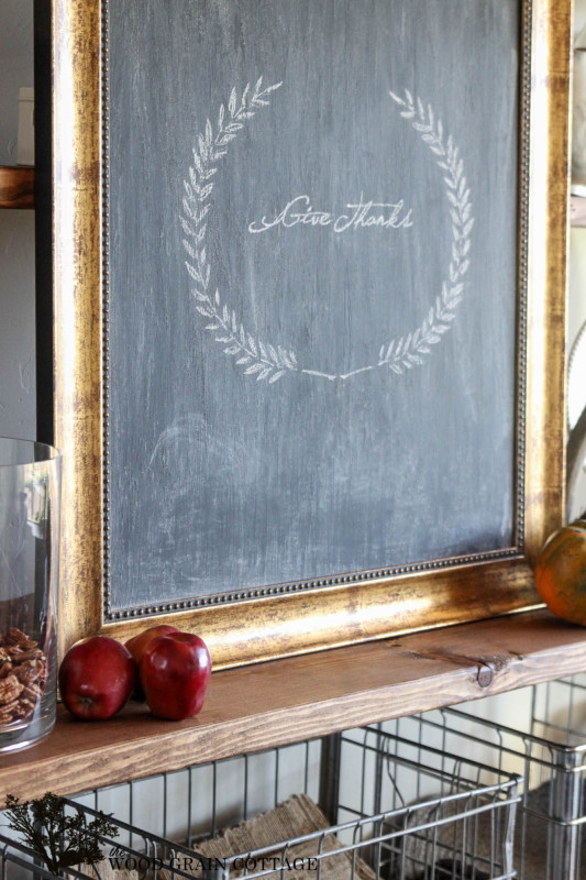 Picture Frame to Chalkboard by The Wood Grain Cottage (2)