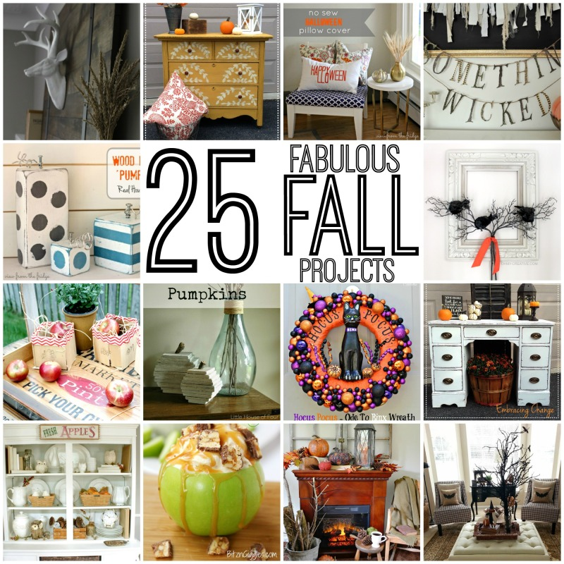 25 Fabulous Fall Projects poster.