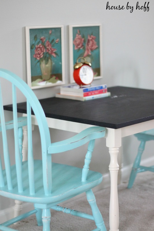 Chalkboard Table via housebyhoff.com
