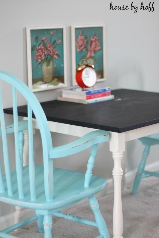 Chalkboard Table via housebyhoff.com