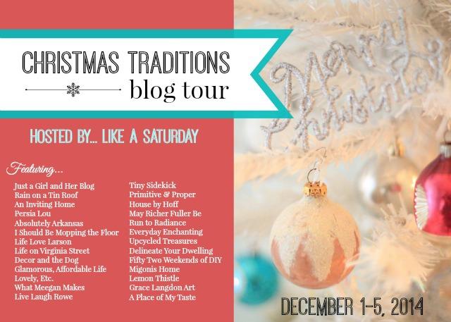 Christmas Traditions Blog Tour poster.