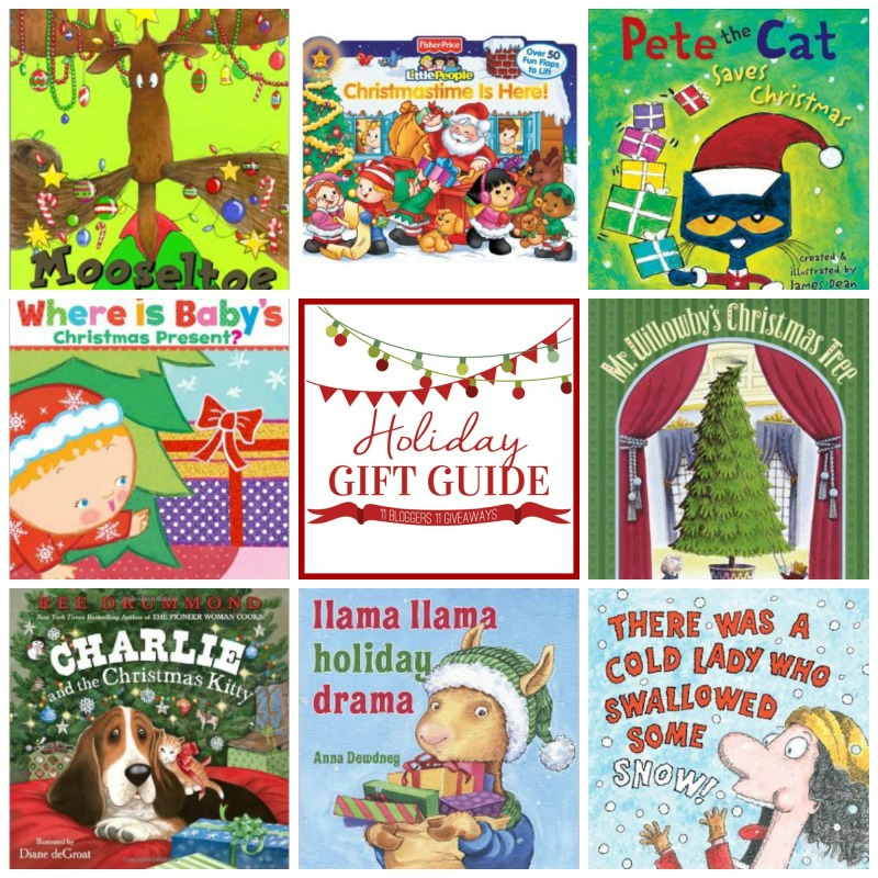 A collection of Christmas books.